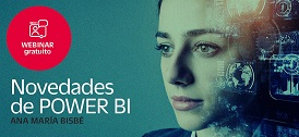 Free WEBINAR on the latest news from Power BI with Ana María Bisbé