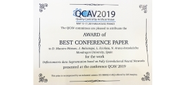 Dani Maestro, student of the Doctoral Degree of the Facuty of Engineering, awarded for best publication at the QCAV 2019 Conference