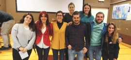 Maria Ruiz has participated in a colloquium to motivate the students of the ikastolas of Rioja Alavesa to live the Basque language