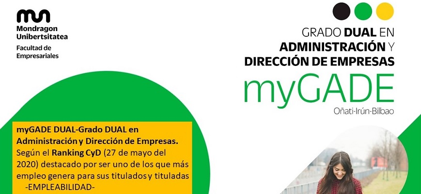 The Degree in Business Administration and Management of Mondragon University, highlighted in employability according to the CyD Ranking