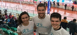 The running team of Biteri in San Sebastian